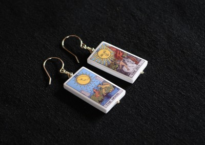 Moon & Sun Tarot Card Earrings