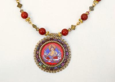 Dzambala Bead Embroidery Pendant