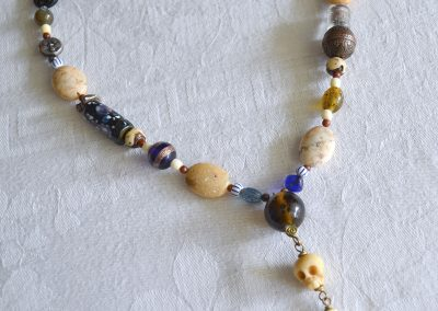 Beaded Necklace with African Opal